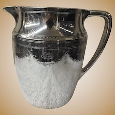 1920's Tiffany Sterling Silver Engraved Water Pitcher
