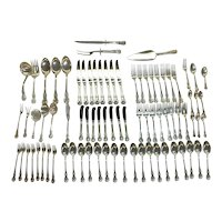 "Antique Towle ""Old Masters"" Sterling Silver Flatware Set - 81 Pieces"