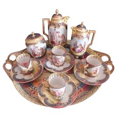 Beautiful  Royal Vienna Coffee/Tea Service Set w/ Tray - Beehive