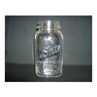 Ball Canning Jar  ~ Perfect Mason Quart ~ 1923-1933