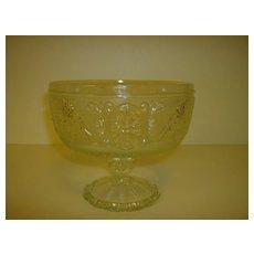 Pressed Glass Pedestal Compote ~ Brockway Glass