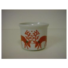 Porcelain Candle Holder ~ Christmas Deer ~ 1986 Dayton Hudson