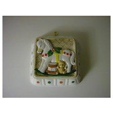 Himark Japan Handcrafted Ceramic Mold ~ Rocking Horse ~ 1983
