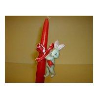 Christmas Bunny Candle Hugger