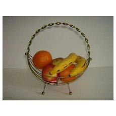 Brass Wire Fruit Basket