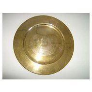 Solid Brass Charger ~ Made in India