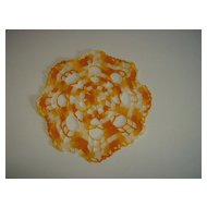 Crochet Doily ~ Orange, Yellow, White