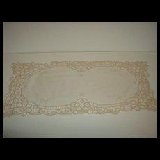 Battenburg Lace Dresser Scarf