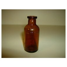 Brown Glass Medicine Bottle ~ Owens Illinois Glass Co.