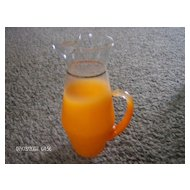 West Virginia Blendo Glass Pitcher