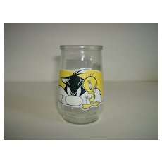 Welch's Jelly Jar ~ Looney Tunes ~ Sylvester & Tweety