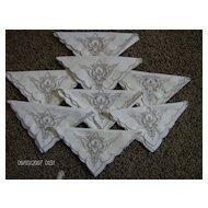 Madeira Cutwork  Linen Napkins