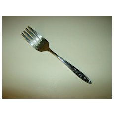 Oneida Community Stainless Flatware ~ My Rose Pattern ~ Cold Meat Fork