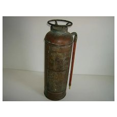 Red Top Brass and Copper Fire Extinguisher