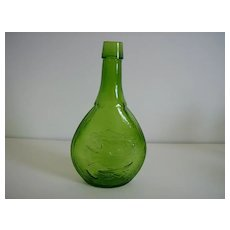 Wheaton Glass ~ Union Flask ~ Green