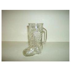 Anchor Hocking ~ Pressed Glass ~ Boot Mug