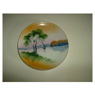 Chikaramachi Hand Painted Plate ~ Sailboat  ~ Circa 1928