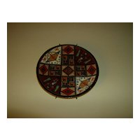 Allpa Peruvian  Plate Hand Painted Wall Plate