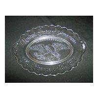 Avon Bicentennial Clear Glass Plate