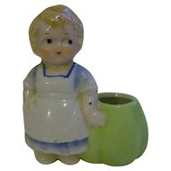 Girl Porcelain Toothpick Holder