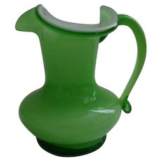 Hand Blown Glass Pitcher