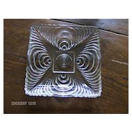 Hazel Atlas Candy Dish ~ Soundwave Pattern ~ Circa 1930's