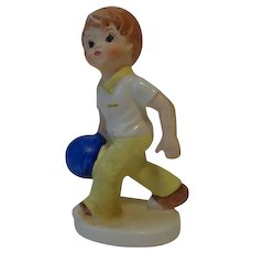 Hand Painted Porcelain Bowler Figurine by Inarco Japan