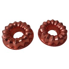Mini Copper Color Aluminum Jello Molds
