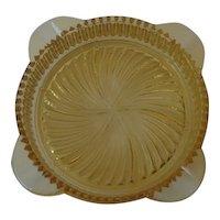 Marigold Depression Glass Ashtray