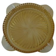 Marigold Depression Glass Ashtray