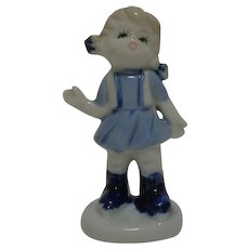 Blue and White Porcelain Girl 1960's