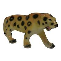 Porcelain Leopard Figurine Japan 1960's