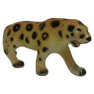 Porcelain Leopard Figurine Japan 1960's