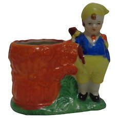 Dutch Boy Planter Made in Japan