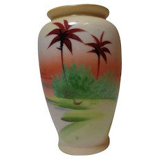 Meito Vase Hand Painted