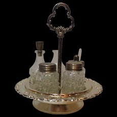 Silver Plate Cruet Set by Hugo