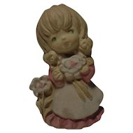 UCTCI Ceramic Girl with Flowers Figurine Vase