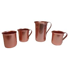 Color Craft Aluminum Pitcher, 2 Creamers & Sugar