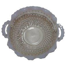 Moonstone Handled Crimped Bowl