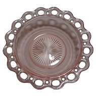 Pink Depression Glass Serving Bowl