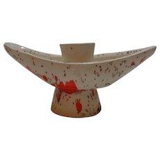Speckled Ceramic Candlestick Holder 1970's