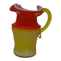 Amberina Kanawha Cased Glass Creamer