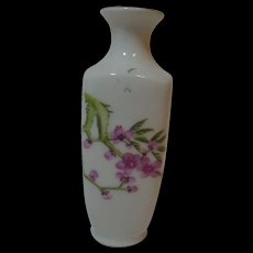 Mini Bud Vase  with Pink Cherry Blossoms