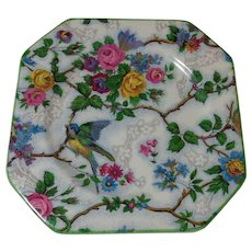 Staffordshire Midwinter Bird Chintz Plate