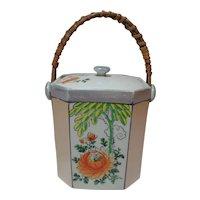 Lusterware Biscuit Jar Made in Japan