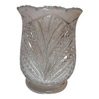 Bryce, Higbee & Co. Celery Vase Palm Leaf Fan