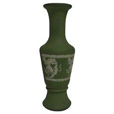 Wedgwood Green Jasperware Vase