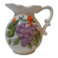 Creamer Hand Painted Grapes
