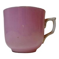 Vintage German Teacup Pink with Gold Trim