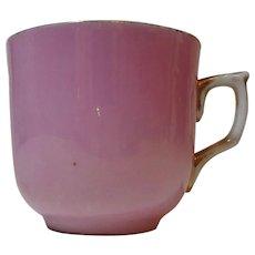 Vintage German Teacup Pink with Gold Trim